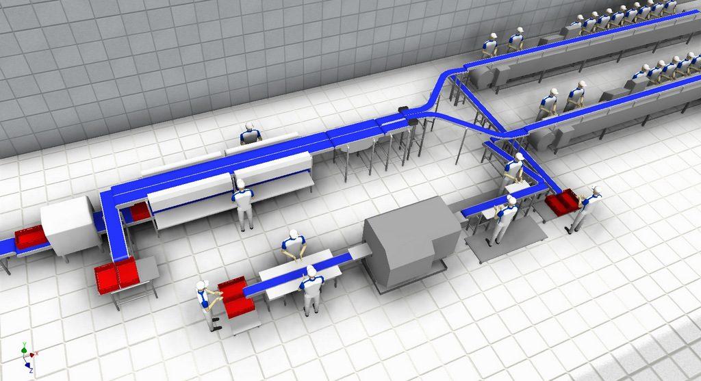 Linia rozbioru i konfekcjonowania elementów drobiowych