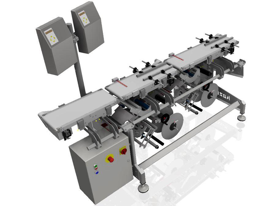 Aplikator etykiet do etykietowania od dołu z głowicą serwo i drukarką hot print