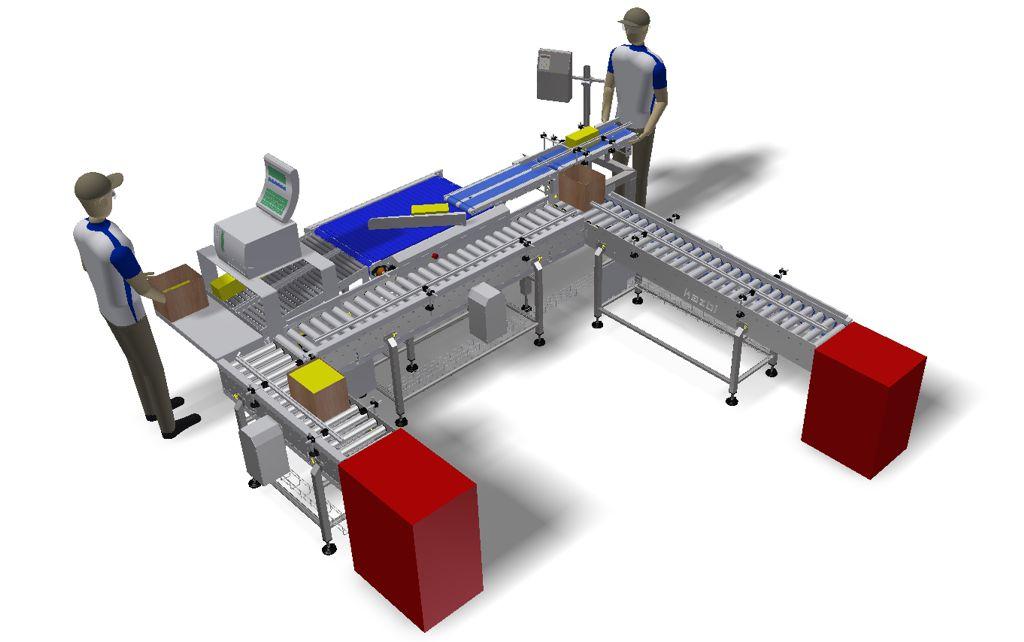 Linia pakowania bloków serowych w kartony